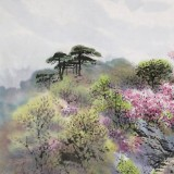 朝鲜画家金善国 四尺《牡丹峰》