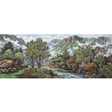【已售】朝鲜画家郑美英 小六尺《山川的溪谷》