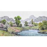 【已售】朝鲜名家蔡京华 四尺《乡村的春天》