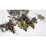 朝鲜画家崔锦星 四尺《丰收的葡萄》