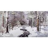 朝鲜画家李光哲 四尺《初雪》