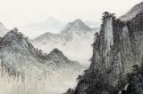 【已售】名家刘金河四尺山水画《青山霁后云犹在》