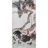 国家一级美术师王永刚 四尺国画《明珠千颗送吉祥》(询价)
