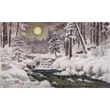 【已售】朝鲜画家赵元哲 四尺《冬日山林》