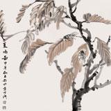 张明河 四尺斗方《夏鸣图》 中国湿地画派创始人之一