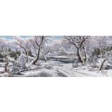 朝鲜画家吴正秀 小八尺《故乡的冬季》(询价)