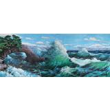 朝鲜画家金正 小八尺《海浪》