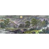 朝鲜画家安钟三 小八尺《山村的傍晚》