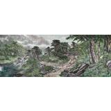 【已售】朝鲜画家郑龙 小八尺《乡秀的清晨》