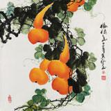 【已售】黄艺四尺斗方招财风水葫芦画《福禄图》