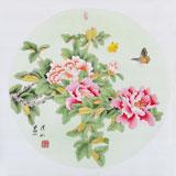 【已售】张洪山四尺斗方花鸟画《活色生香》