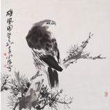 王向阳 四尺斗方 《雄风图》中国美术家协会会员(询价)
