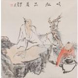 【已售】曹建涛四尺斗方《听松品茗》