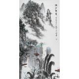 【已售】张春奇 四尺《漓江春晨》徐悲鸿纪念馆艺术中心理事(询价)
