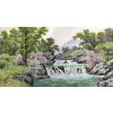 朝鲜名家蔡京华 四尺《溪谷的春天》