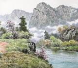 朝鲜名家蔡京华 四尺《故乡的小路》