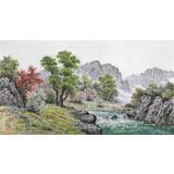 【已售】朝鲜名家蔡京华 四尺《山河的春天》