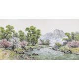 朝鲜名家蔡京华 四尺《山川的春天》