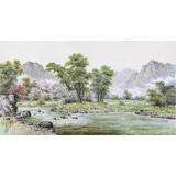 朝鲜名家蔡京华 四尺《山河之春》
