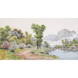 【已售】朝鲜画家蔡京华 四尺《故乡的小路》