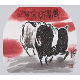 国家一级美术师王永刚 四尺斗方《唐马风采》(询价)