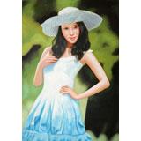 著名青年油画家朱艺林 布面油画 《夏日风情》