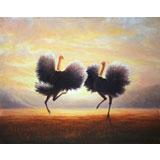 朝鲜名家 安明锡 《起舞》精品油画