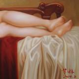 【已售】著名青年油画家朱艺林 布面油画 《贵妇》(询价)