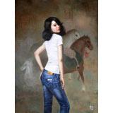 【已售】著名青年油画家朱艺林 布面油画 《梦回大唐》