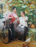朝鲜名家油画 白日南 《远方的来信》