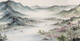 国家画院名家刘金河3.2米长卷《山水四季》(询价)