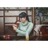 【已售】朝鲜名家最新博彩大全 崔国哲 《恋爱时光》