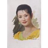 【已售】朝鲜名家油画 金永灿 《和蔼》