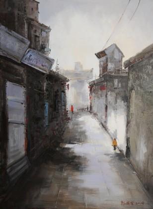 郭丽岩 《小巷》 布面油画