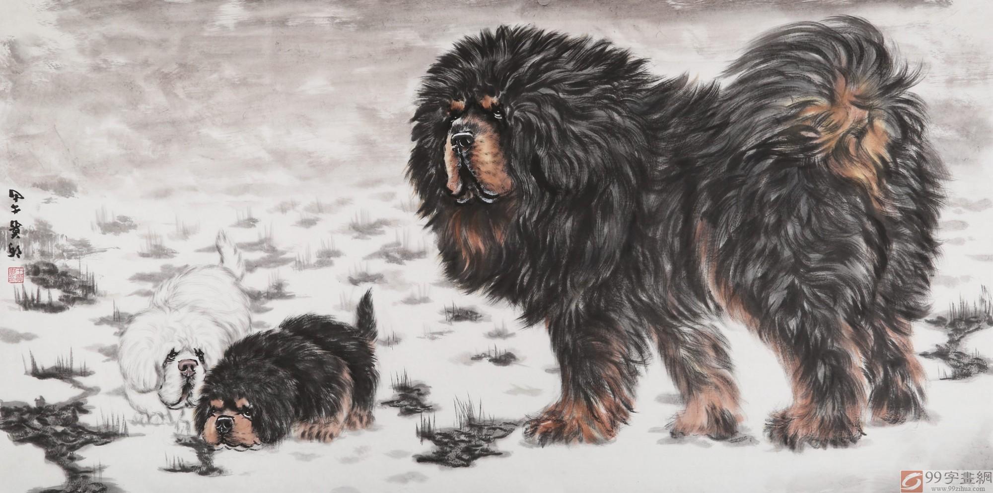 《守护》 - 动物画