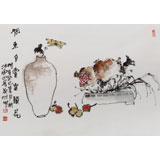 【已售】黄宾虹艺术研究会副会长 赵英旭 《闲来自赏案头花》(询价)