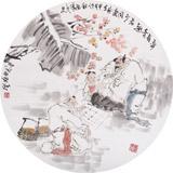 南海禅寺 妙林居士 人物画《弈有奇趣 老少同乐》