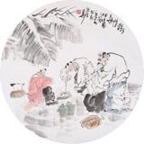 南海禅寺 妙林居士 人物画《乡野情趣》