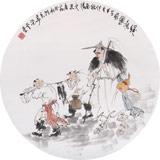 南海禅寺 妙林居士 人物画《归渔图》