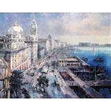 【已售可订】郭莹 《城市记忆-上海外滩》 布面油画