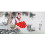 北京美协凌雪四尺《风中花香》
