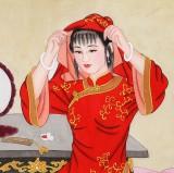 北京美协凌雪四尺《美人梳妆》