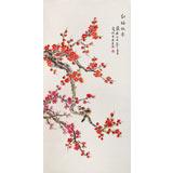 北京美协凌雪四尺《红梅报春》