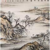 【已售】出版物原作 刘金河四尺斗方《短笛横轴与谁听》