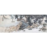 【已售】辽宁著名山水画家刘显辰三尺《松风琴韵》