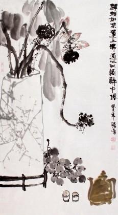 【已售】李胜春三尺《禅理如茶莲上佛》