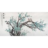 【已售】中国老子书画院副院长 朱祖义四尺《报春图》