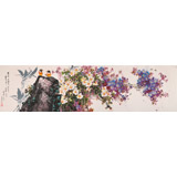 【已售】朝鲜画大家吴永成大尺寸《春曲》