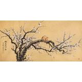 中国老子书画院副院长 朱祖义四尺《独先天下春》