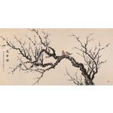 中国老子书画院副院长 朱祖义四尺《寒香图》